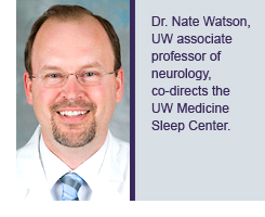 Dr. Nate Watson, UW associate professor of neurology, co-directs the UW Medicine Sleep Center.